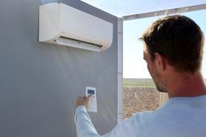 testing AC in perspex building