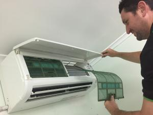 split system aircon filter removal